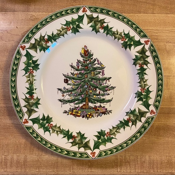 Spode Christmas Tree Accent Plate 9in England